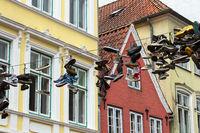 Strassenkunst 001. Flensburg. Deutschland