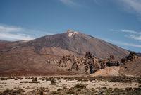 scenic photo in national park at Teide volcano in Tenerife, Spain Europe