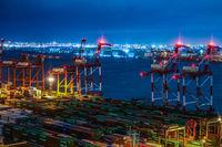 Night view of Odaiba, Tokyo Container Terminal