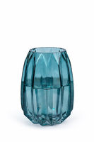 light blue glass vase isolated