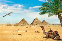 Ruined egyptian pyramids