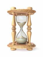 Wooden hourglass 3D