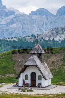 Alpine Chapel in Pralongia