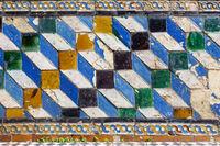 Ceramic tiles with simple geometric