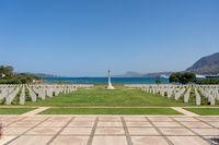 Souda Bay War Cemetery on Crete, Greece