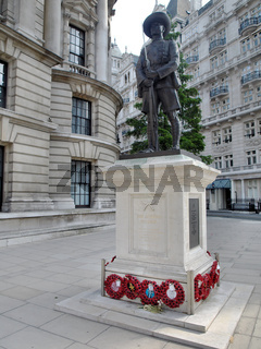 The statue is outside the Ministry of Defence in Whitehall.