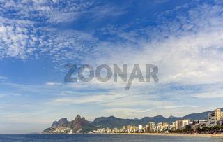 Panoramic view of the beaches of Ipanema and Leblon