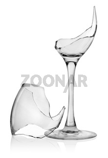 Broken wine glass