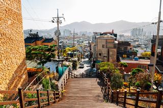 Panoramic view of Miryang city in Miryang, Korea
