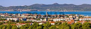 Dalmatian city of Zadar panoramic view
