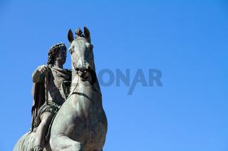 Statue of Louis XIV in Lyon city