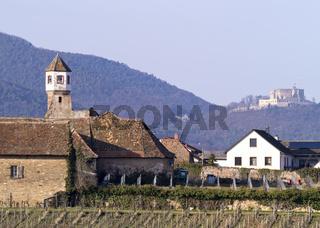Kloster Heilsbruck mit dem Hambacher Schloss im Hintergrund