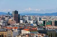 Vienna City Downtown In Austria