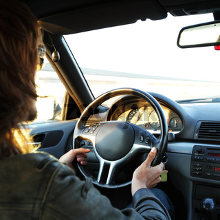 driver drive a car fast