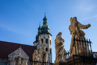 Apostles Sculptures and St Andrew Church in Krakow