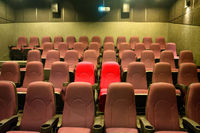 Empty seats in cinema movie theater