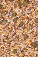 Surface of a flat seeds with sesame, flax, pumpkin and sunflower seeds
