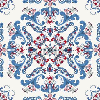 Rosemaling vector pattern 32