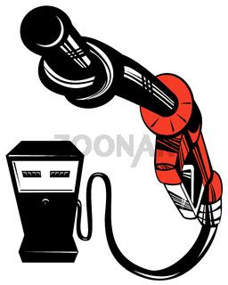 Fuel Pump Station Twisted Nozzle Retro