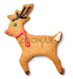 Christmas gingerbread deer cookie