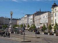 Hauptplatz mit Pestsäule - Dreifaltigkeitssäule - Linz