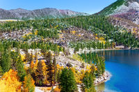 Magnificent oval lake