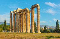 Clumns of Zeus temple in Athens in Greece