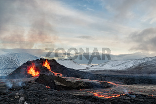 Fagradalsfjall volcanic eruption, Iceland