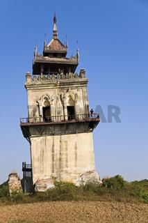Nanmyin Turm, Inwa, Mandalay-Division, Myanmar, Asien