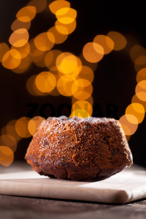 Marmorkuchen mit Lichtern