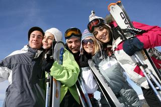 people at winter sports season
