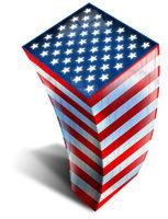 USA Building Flag
