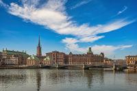 Stockholm Sweden, city skyline at Gamla Stan old town