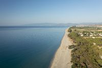 Nice aerial view of the Calabria coastline and blue see