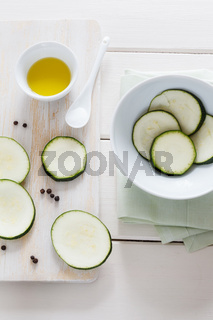 Geschnittene Zucchini
