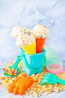 Eis mit Zuckerstreuseln