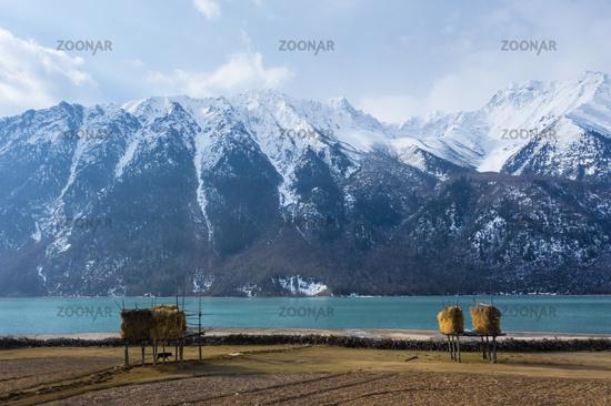 Ranwu lake landscape in Tibet