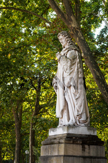 Statue of Montesquieu in the garden of the Place des Quinconces in Bordeaux