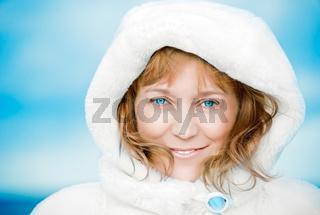 Blue-eyed woman.