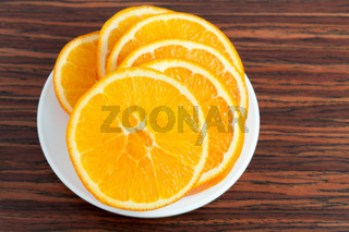 orange ring on the plate