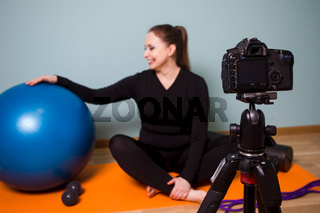 Creating video content with fitness workouts to do at home
