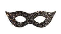 Black and gold glitter masquerade eye mask