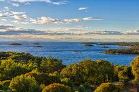Erstaunliche Ansicht an der Adria nahe Vrsar, Kroatien