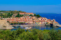 The old town of Collioure, a seaside resort in Southern France