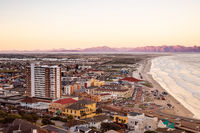 Elevated panoramic view of Muizenberg beach Cape Town