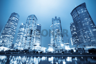 night view of  shanghai