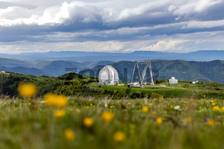 Special scientific astrophysical Observatory. Astronomical center for ground-based observations of the universe with a large telescope.