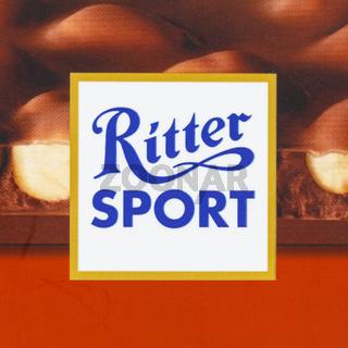Ritter Sport Schokolade Logo Firmenlogo Quadrat