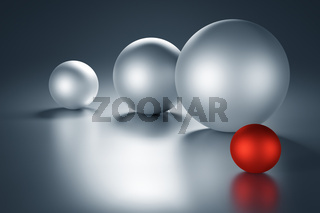 Red Metal Ball