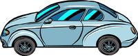 A passenger car on a neutral background. Automobile transport, automobile. Auto